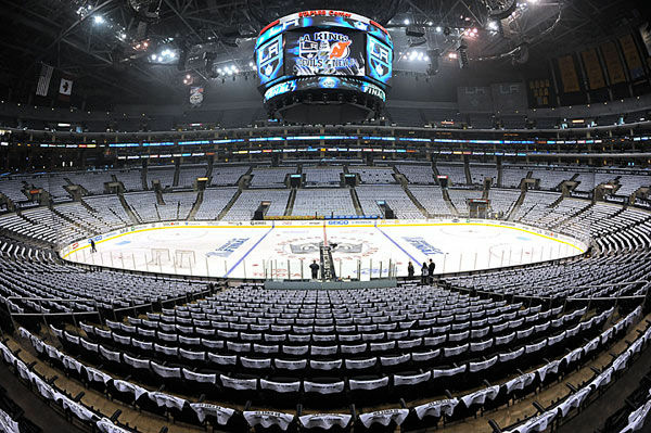 An empty Staples Center on nights scheduled for hockey could be a common occurrence as the NHL lockout continues.