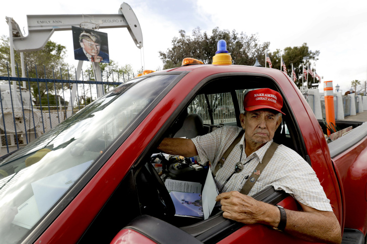Jimmy Camp poses for a photo in an unincorporated area in Orange County, Calif., on Tuesday, Jan. 10, 2017. Camp, who has friends from Iran and Egypt, cringes at a president who would castigate Muslims as supposedly tied to terrorists, though he doubts Donald Trump will fulfill his most extreme rhetoric.