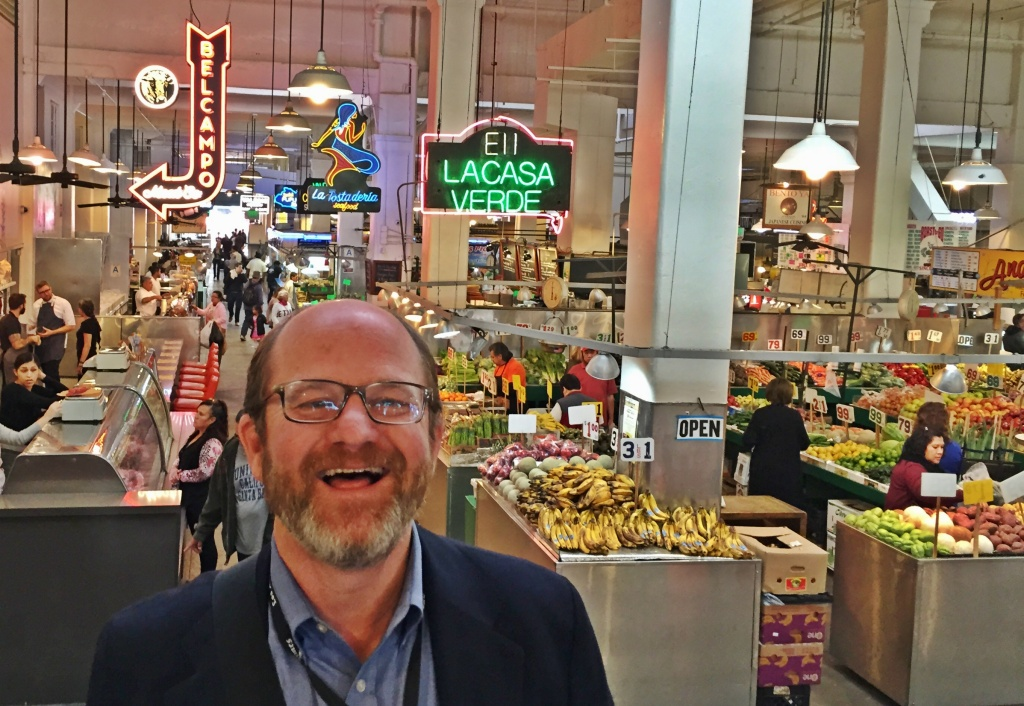 Outgoing LA Times food writer Russ Parsons at his