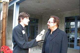 John Rabe (left) with Tom Jones (right).