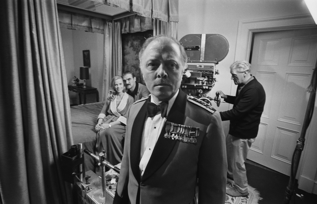 English actor and director Richard Attenborough on the set of