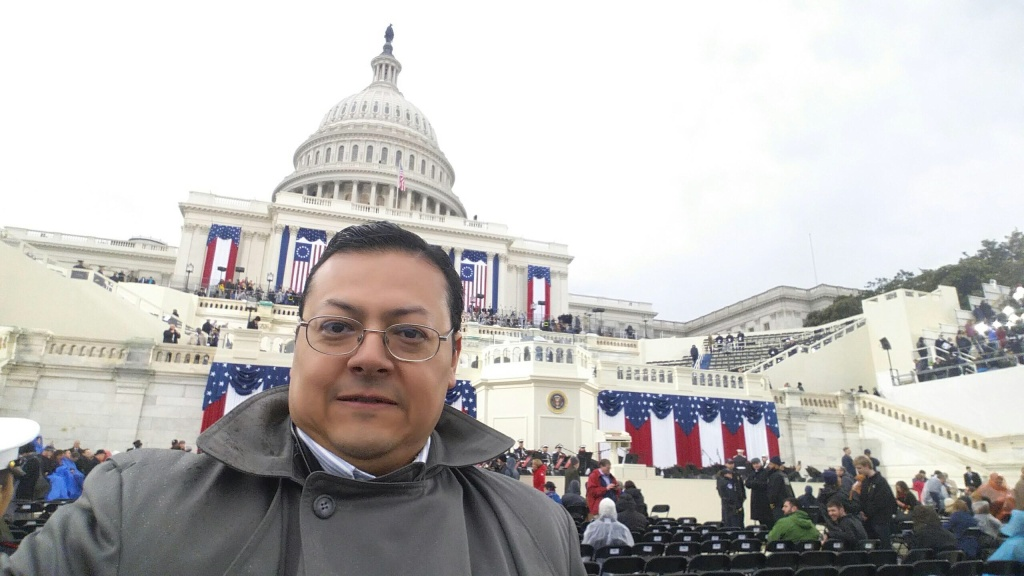 JANUARY 20, 2017 -  Jack Guererro (R), Cudahy City Councilman, in D.C. for the inauguration.
