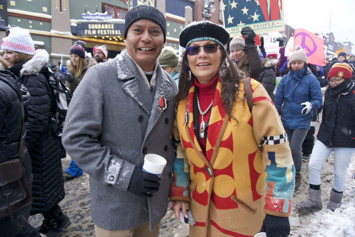A march was held at the Sundance Film Festival in Park City, Utah in solidarity with gatherings in Washington and across the country.