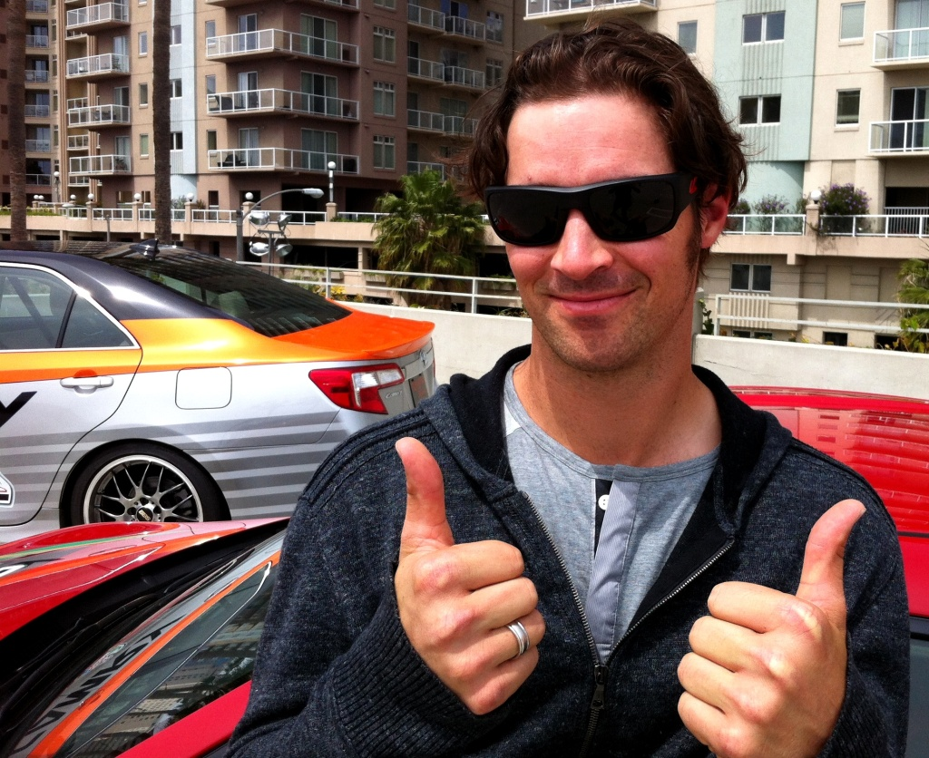 Angels pitcher and race car driver CJ Wilson at the Long Beach Grand Prix.