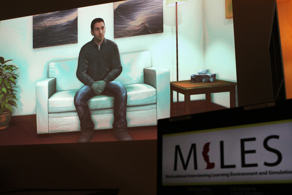 Researchers at USC have developed a virtual patient to help train social workers and counselors for working with veterans. Using artificial intelligence technology and video game graphics, researchers have created a fictitious Mike Baker, who will give you different answers depending on what you ask him.