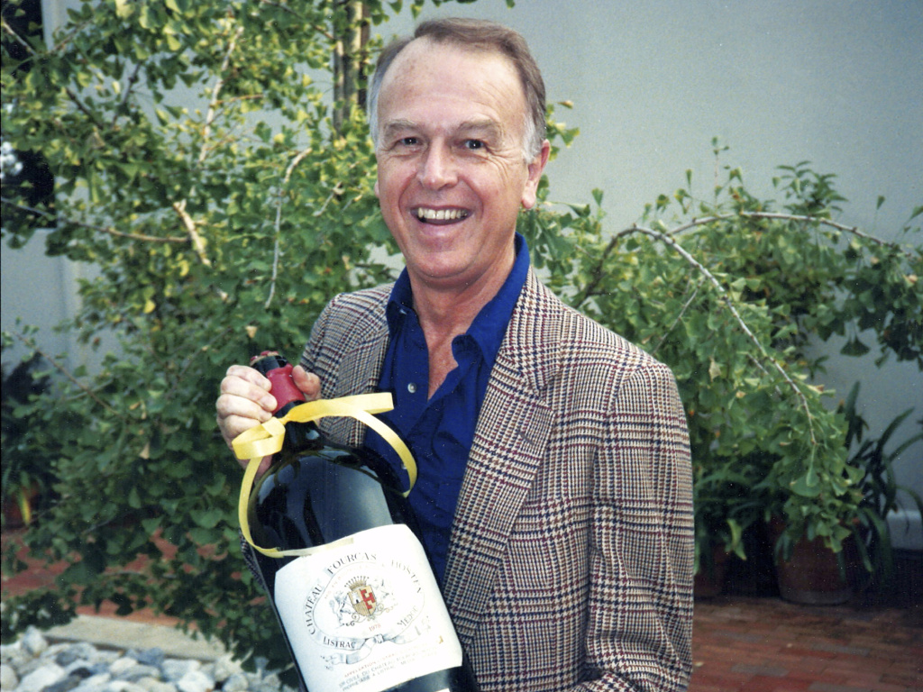 Trader Joe's founder Joe Coulombe, seen around 1985 in Pasadena, Calif., died Friday at the age of 89.