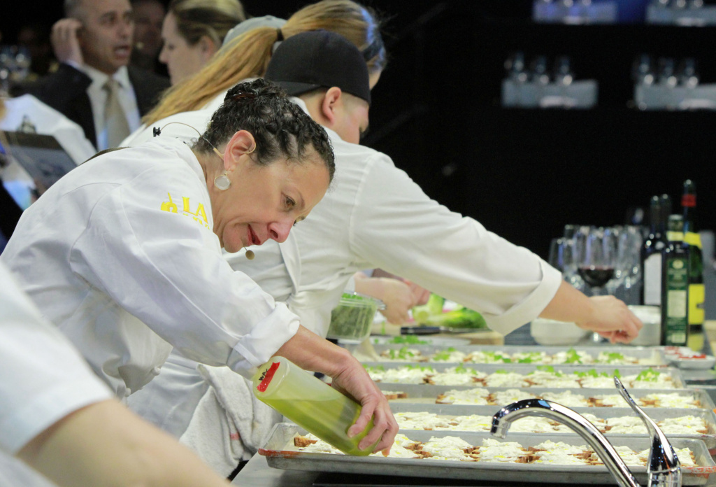 Chef Nancy Silverton at the All-Star Chef Classic - All-Star Lunch at L.A. LIVE on March 22, 2014 in Los Angeles, California.