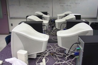 A school computer lab.