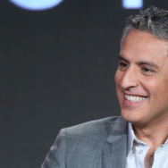 "Executive producer Reza Aslan at ABC's ""Of Kings and Prophets"" panel at the 2016 Television Critics Association Winter Tour."