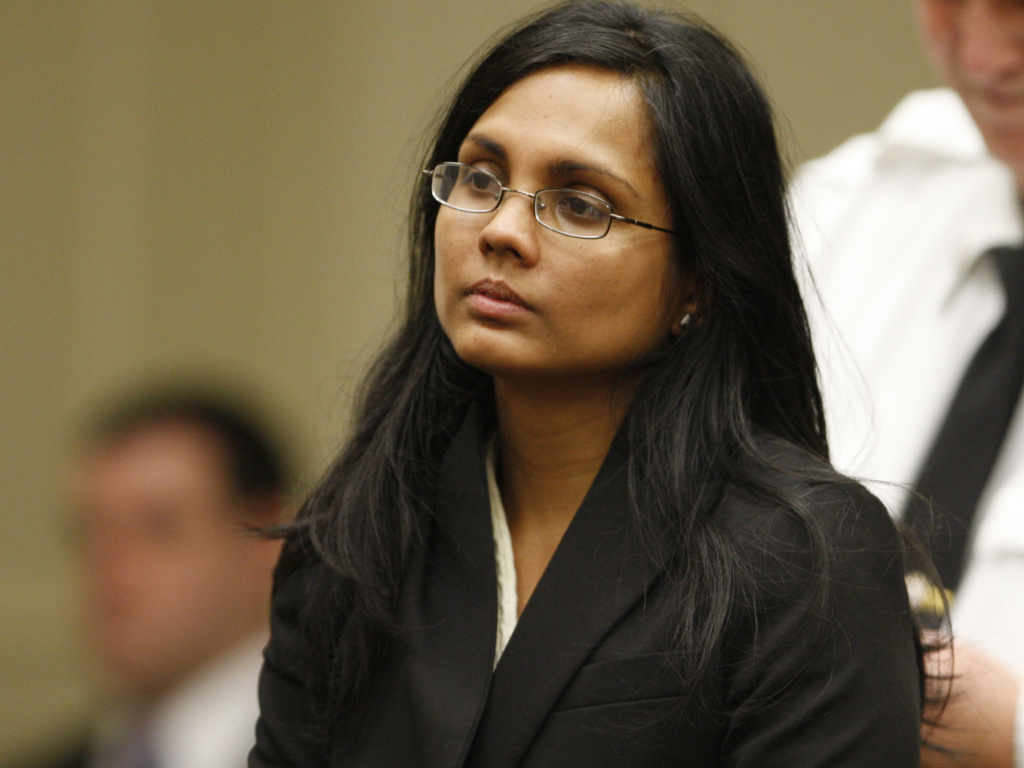 Annie Dookhan, a former chemist, during her arraignment in Brockton, Mass., last January.