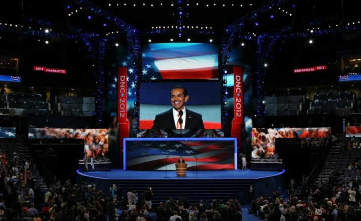 Mayor Villaraigosa speaks during day one of the Democratic National Convention at Time Warner Cable Arena on Sept. 4, 2012 in Charlotte, North Carolina.