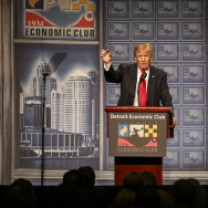 Republican Presidential Nominee Donald Trump Touts Old-School Tax Cuts to Return Economy to Glory Days
