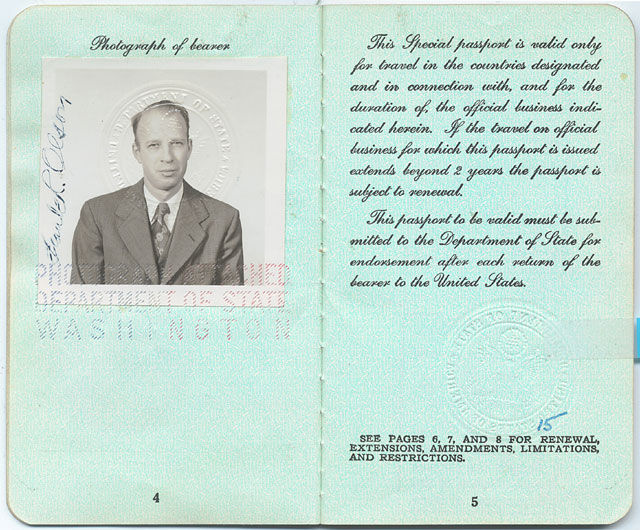 Frank Olson's passport.