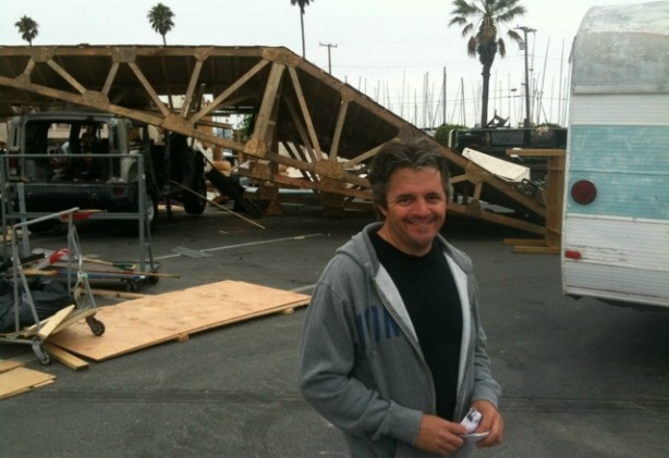 CSI: Miami Art Director Mark Walters among the staged devastation