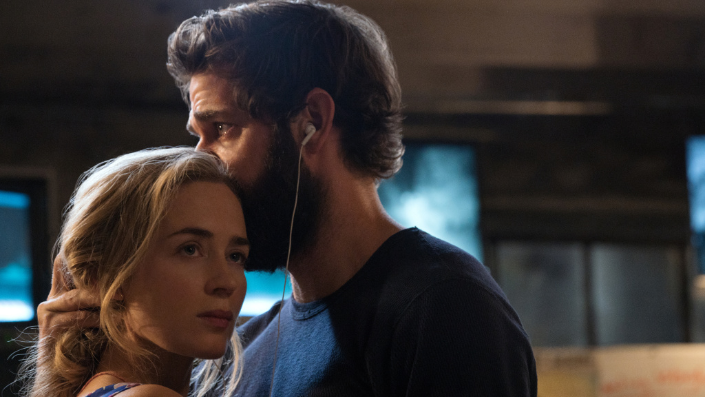 Emily Blunt as Evelyn Abbott and John Krasinski as Lee Abbott in <em>A Quiet Place</em>.