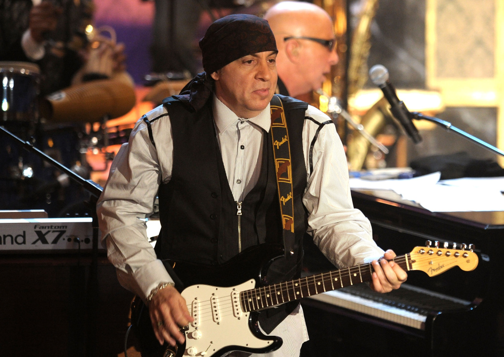 Musician Steven Van Zandt onstage at the 25th Annual Rock And Roll Hall of Fame Induction Ceremony at the Waldorf=Astoria on March 15, 2010 in New York City.