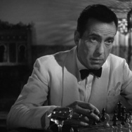 "Humphrey Bogart contemplates his next move in ""Casablanca"""