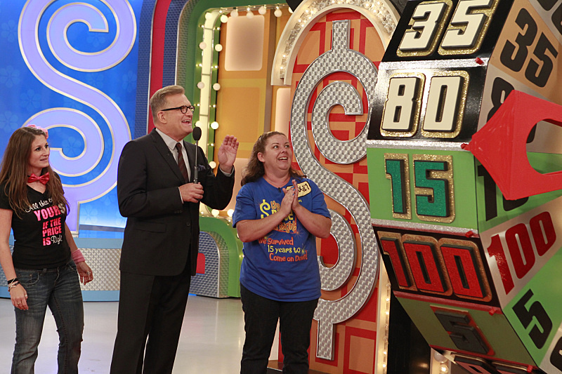 Drew Carey, host of THE PRICE IS RIGHT on the CBS Television Network.  Photo: Lisette M. Azar/CBS © 2014 CBS Broadcasting, Inc. All Rights Reserved.