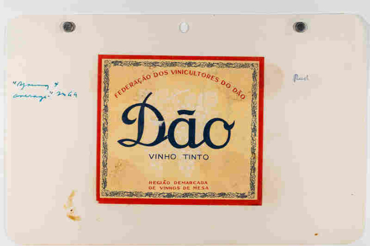 A label for a North African wine.