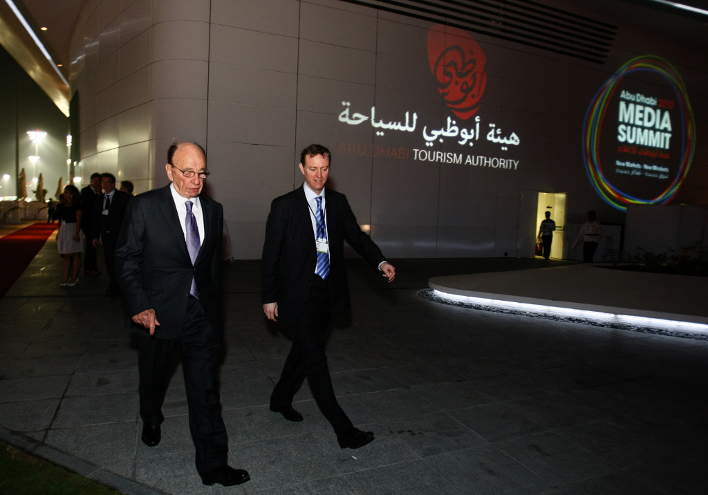 Rupert (L) and James (R) Murdoch.