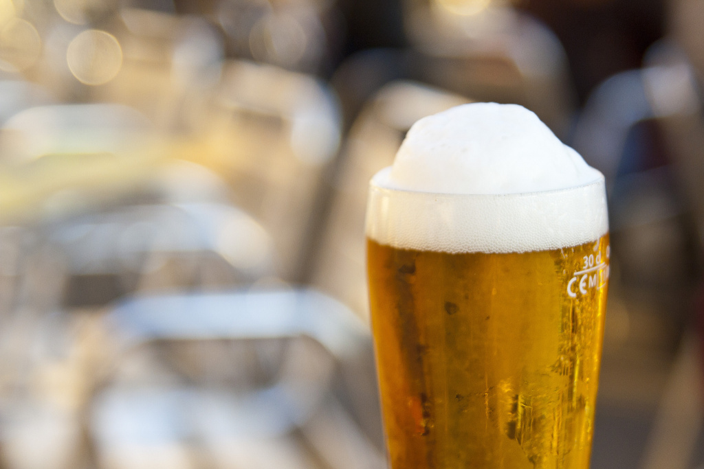 File photo of a glass of beer.