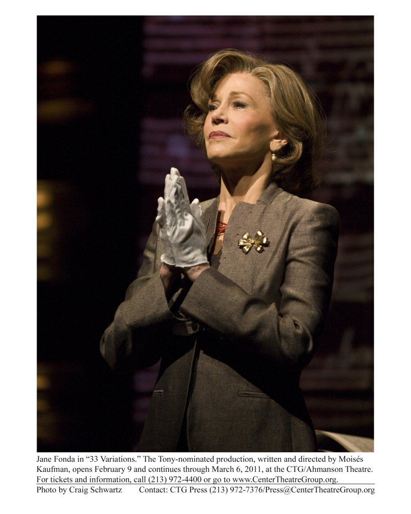 "Jane Fonda in ""33 Variations."" The Tony-nominated production, written and directed by Moises Kaufman, runs from February 9 through March 6, 2011."