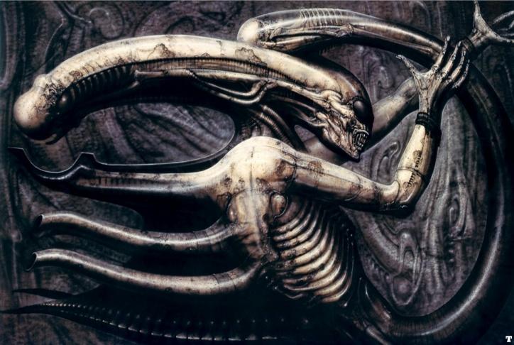 Necronom IV by artist H.R. Giger.
