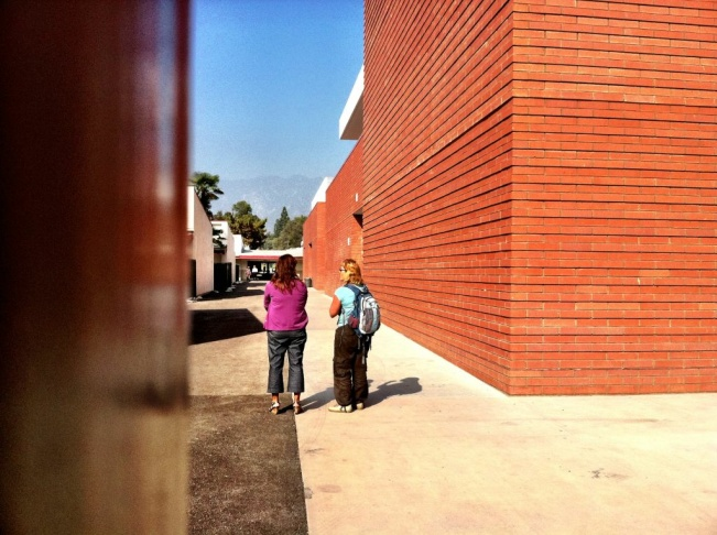 A photo of the outside of the Arcadia High School during the lockdown that began shortly before noon Tuesday, Nov. 1, 2011.