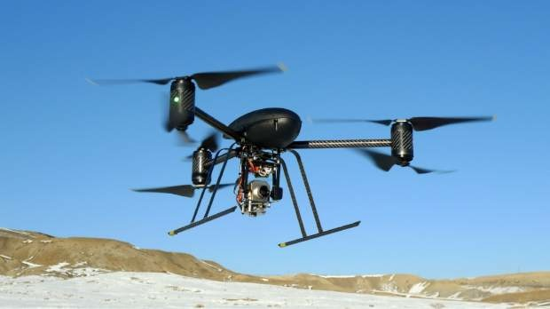 A Draganflyer X6 Unmanned Aerial Vehicle used by the Mesa County Sheriff's Dept. unmanned operations team.