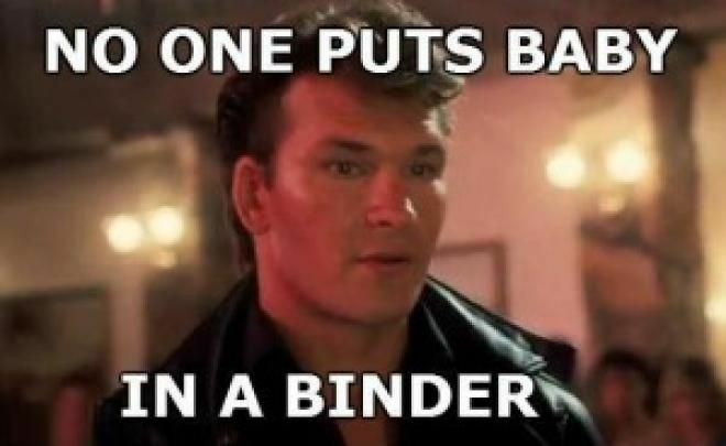 Patrick Swayze's Dirty Dancing appearance was not forgotten last night as jokesters piled on during the Binder meme.