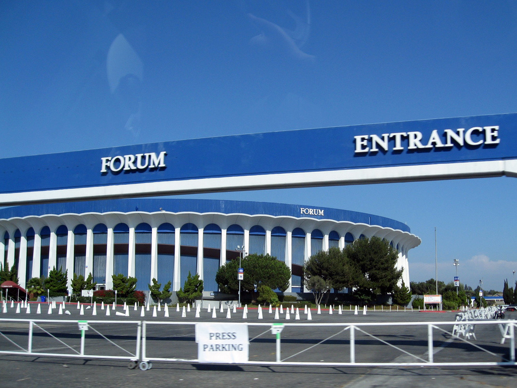 The Forum in Inglewood will be the site of one party for the space shuttle Endeavour as it makes its careful way to the California Science Center in a couple of weeks.