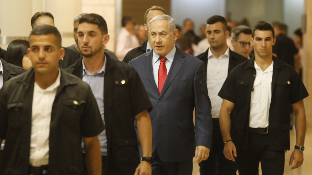 Israeli Prime Minister Benjamin Netanyahu on Wednesday in the Knesset, Israel's parliament in Jerusalem.