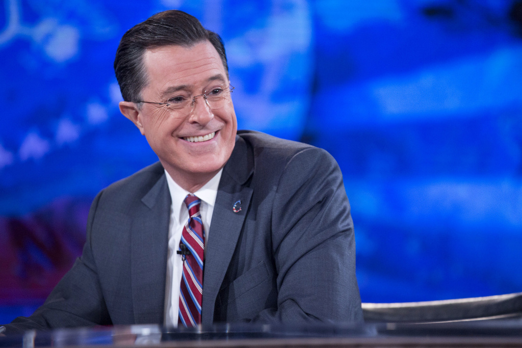 File: Stephen Colbert during a taping of Comedy Central's
