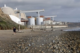 The San Onofre nuclear power plant in north San Diego County is shown in this March 2, 1010 file photo. In an effort to ease local concerns about a possible nuclear disaster on the West Coast, operators of Southern California's San Onofre and Diablo Canyon nuclear plants say their plants can withstand a higher magnitude earthquake than scientists predict could ever strike the region.