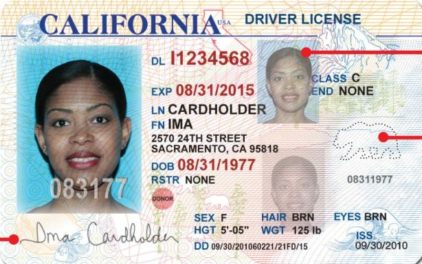 A California driver's license.