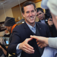 GOP Presidential Candidate Campaigns In Michigan On Day Of State's Primary