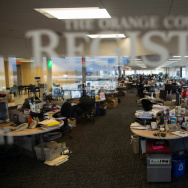 The newsroom of the Orange County Register.