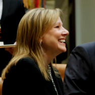 GM CEO Mary Barra and President Trump