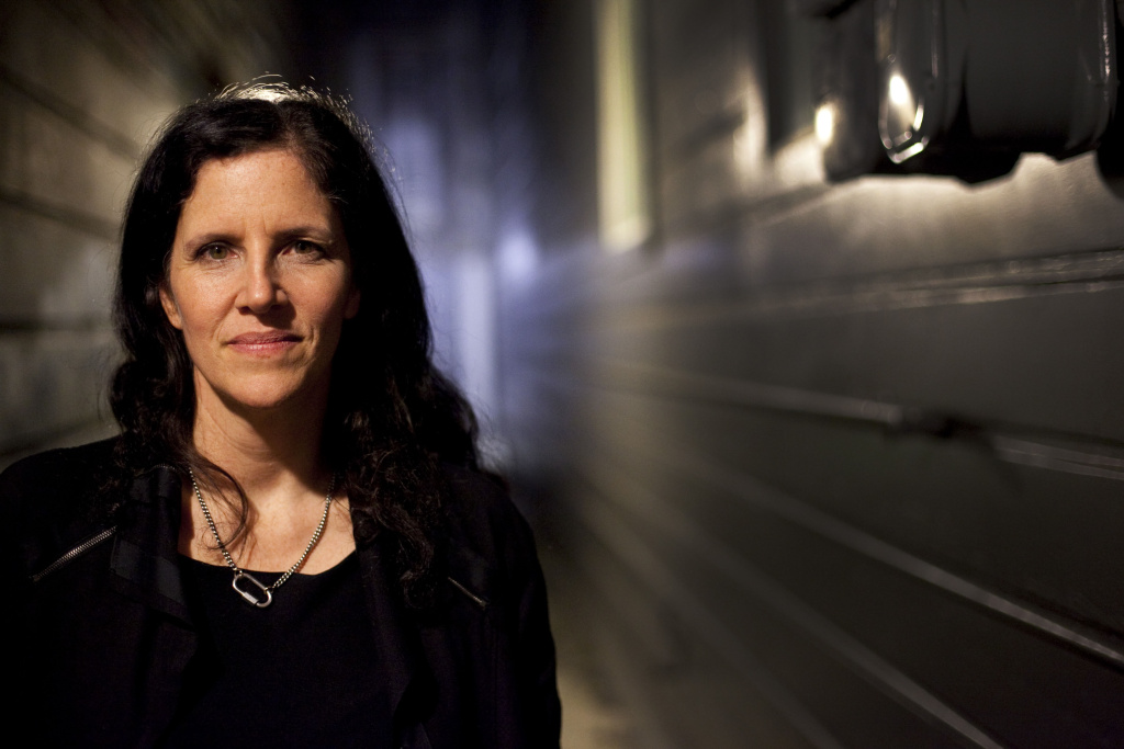 Documentary filmmaker Laura Poitras at the premier of her film