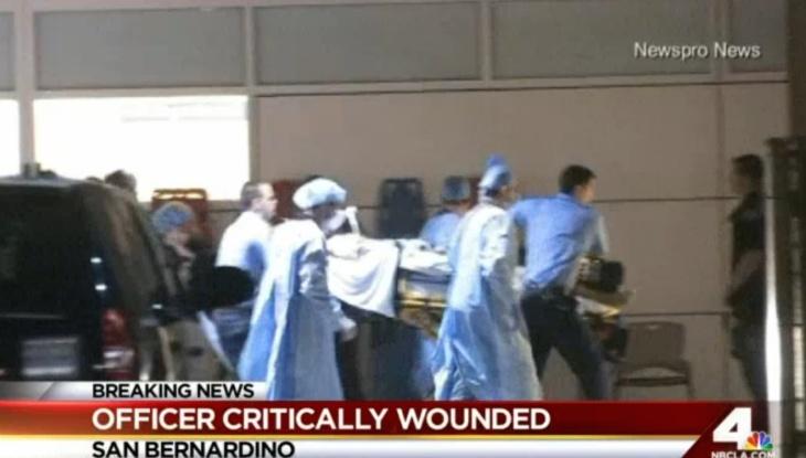 San Bernardino Police officer Gabriel Garcia was severely injured in a shootout early Friday morning.