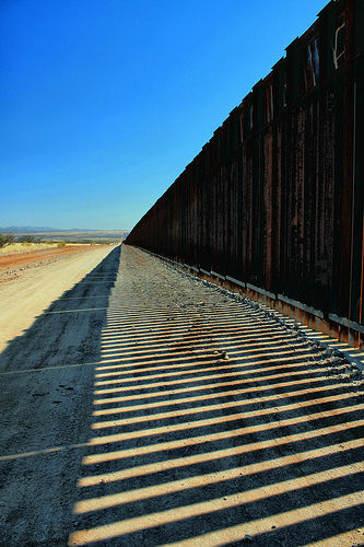 Border fence in Cochise County, AZ