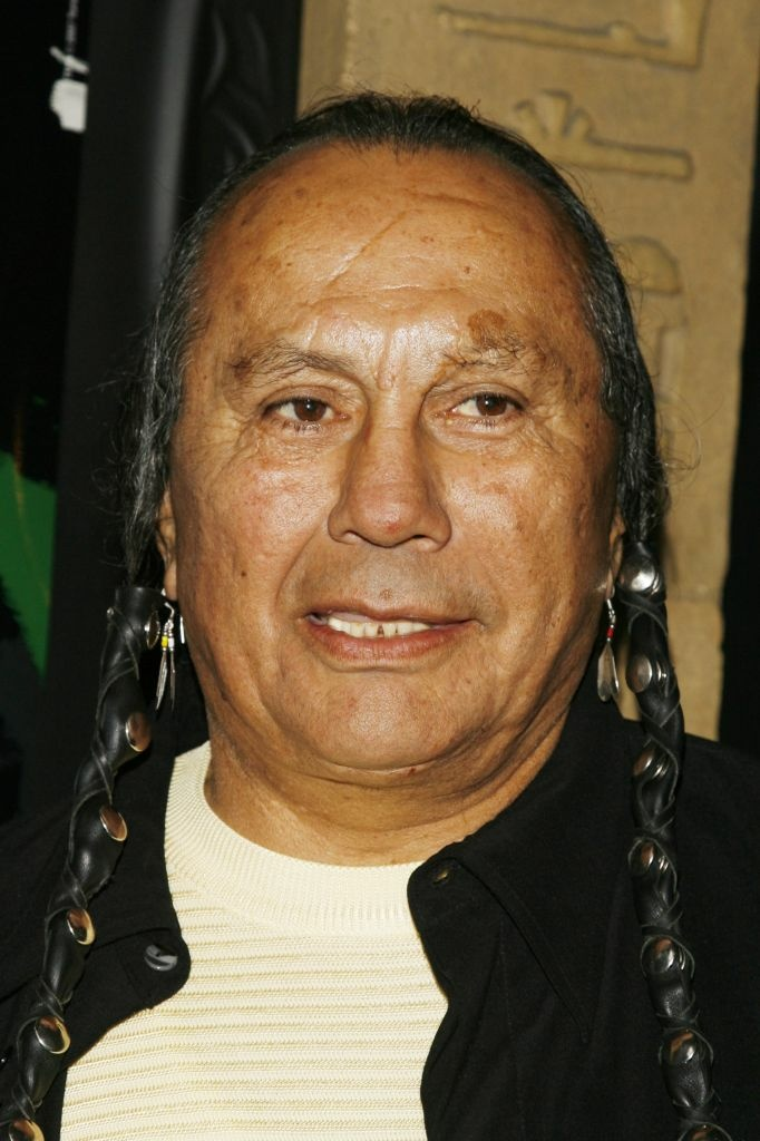"Writer and activist Russell Means arrives at the premiere screening of Turner Classic Movies ""Brando"" at the Egyptian Theater in 2007 in Los Angeles. Means, 72, died of cancer Monday at his South Dakota ranch."