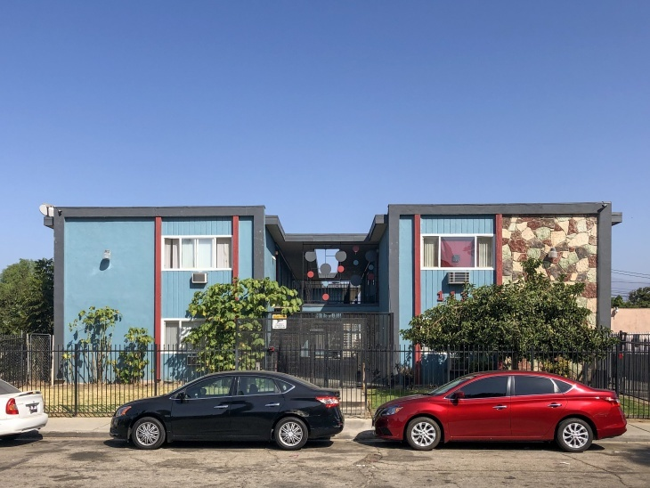 An apartment in Pomona that leases through the Housing for Health Program. (Matt Tinoco/LAist)