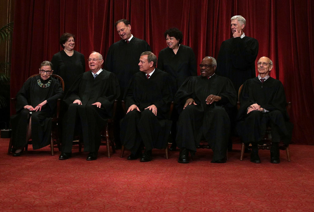 The U.S. Supreme Court held a photo opportunity for photographers after Justice Gorsuch has joined as the newest member.