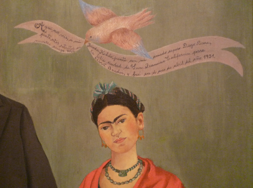 Frida Kahlo, Frieda and Diego Rivera, 1931, oil on canvas at the San Francisco Museum of Modern Art.