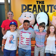 (L-R) Director Steve Martino, Alexander Garfin, Marleik Mar Mar Walker, Noah Schnapp, Francesca Capaldi, Mariel Sheets Hadley Belle Miller and writer/producer Craig Schulz attend.