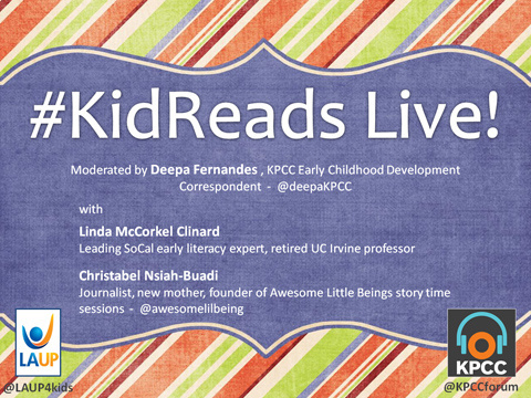 KidReads Live from the A C Bilbrew Library in Los Angeles.