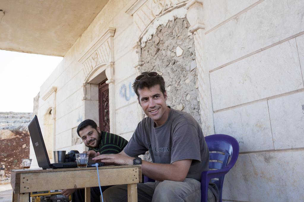 James Foley in Syria in 2012.