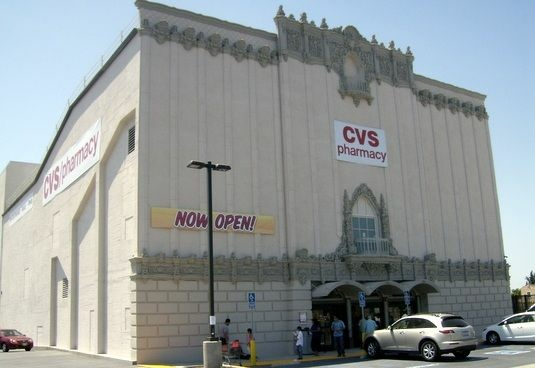 The historic Golden Gate Theater in East Los Angeles has been repurposed into a CVS drugstore.