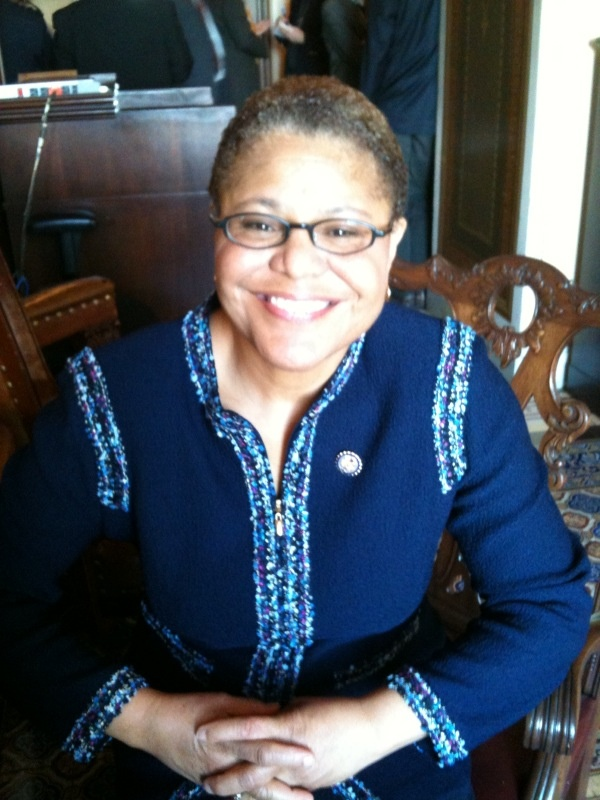 Newly sworn in Congresswoman Karen Bass